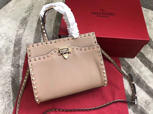 VALENTINO Candy Rockstud quilted leather shoulder bag 0650 apricot