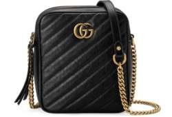 Gucci GG Marmont mini shoulder bag 550155 BLACK