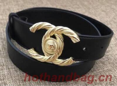 Chanel Original Calf Leather Belt 56955 Black