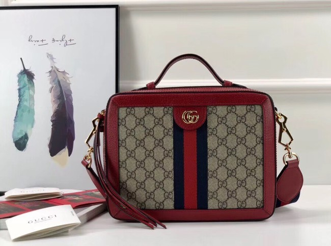 Gucci Ophidia small GG shoulder bag 550622 red