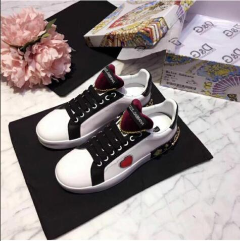 Dolce & Gabbana Casual Shoes CD0554 Black&White