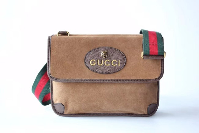 Gucci GG Supreme messenger bag 495654 Chestnut suede