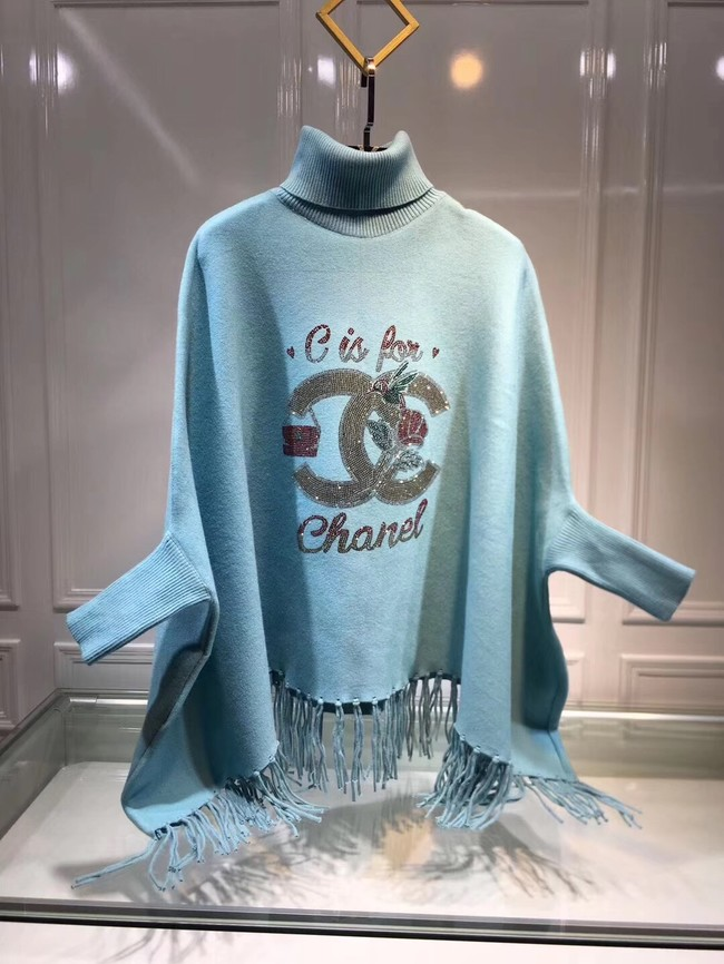 Hermes lambswool & cashmere Shawl 71157 blue