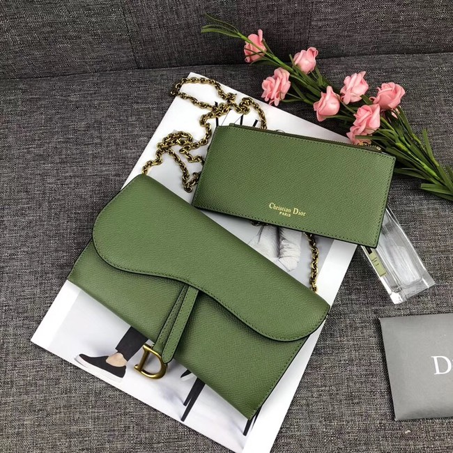 DIOR WITH CHAIN bag 26955 green
