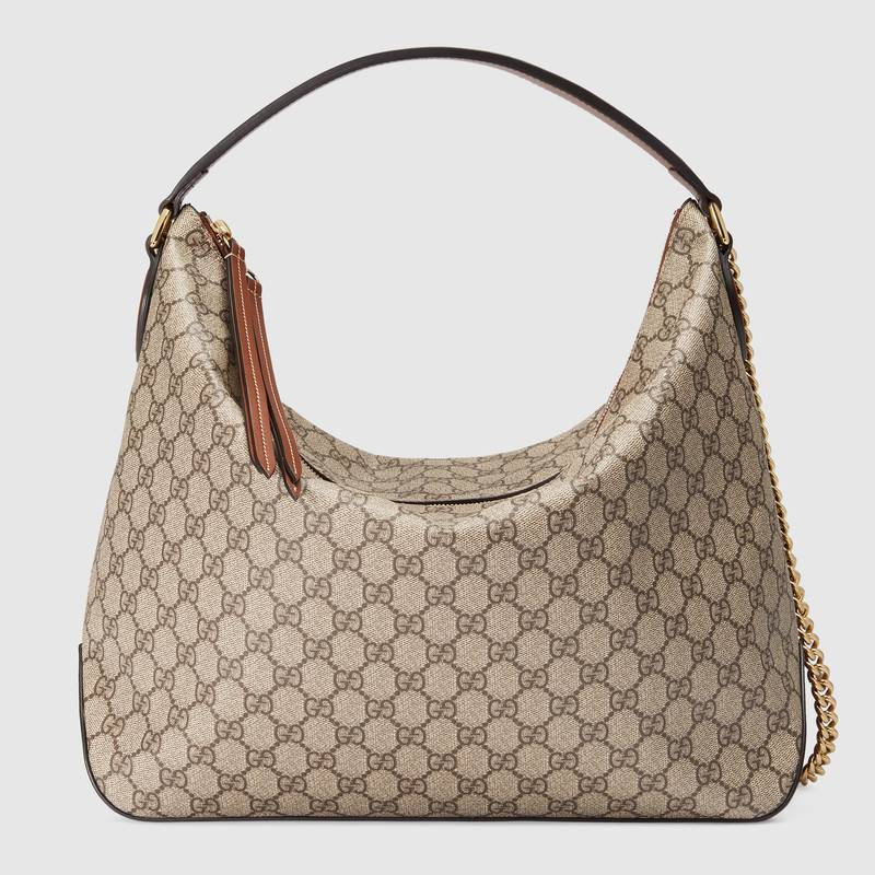 Gucci GG Supreme large hobo 477324 brown