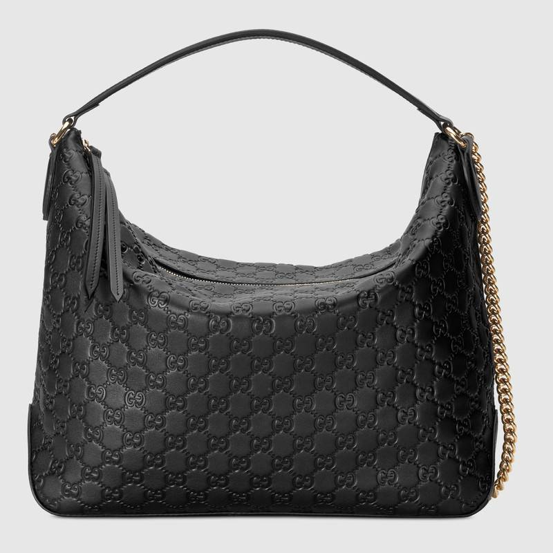 Gucci Signature large hobo bag 477324 black