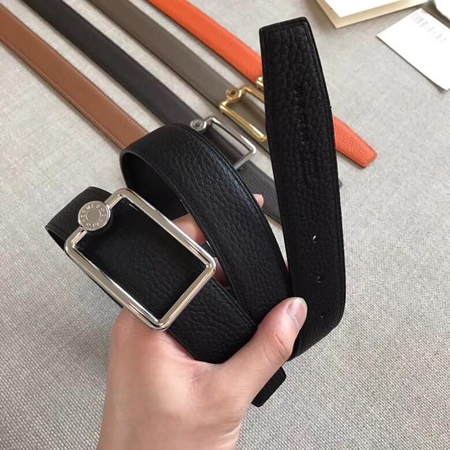 Hermes Quizz belt buckle & Reversible leather strap 32 mm H0739 black
