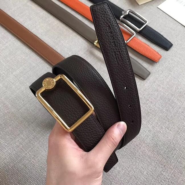 Hermes Quizz belt buckle & Reversible leather strap 32 mm H0739 dark brown