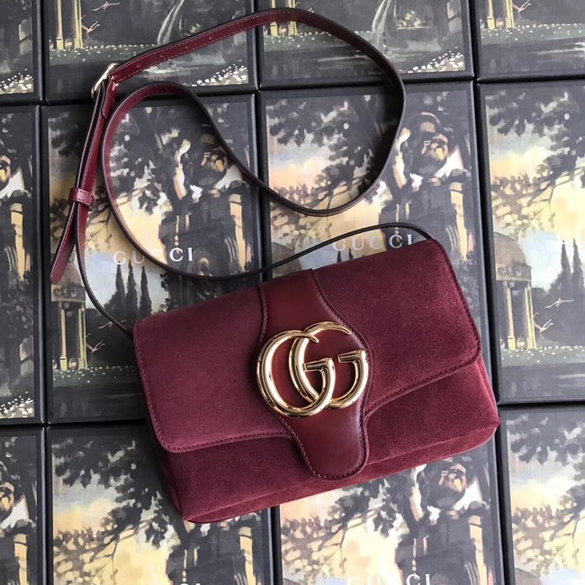 Gucci Arli small shoulder bag 550129 Burgundy suede