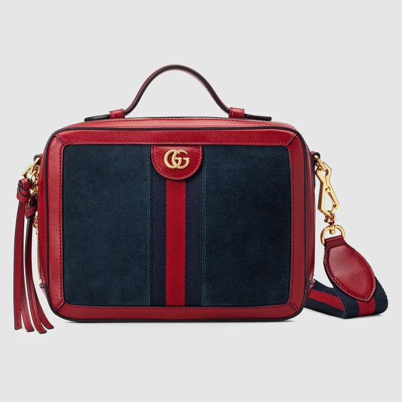 Gucci Ophidia small shoulder bag 550622 Blue suede