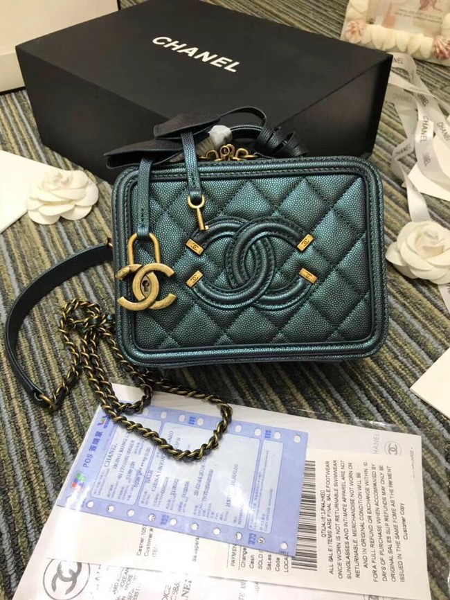 Chanel mini Vanity Case Original A93342 green