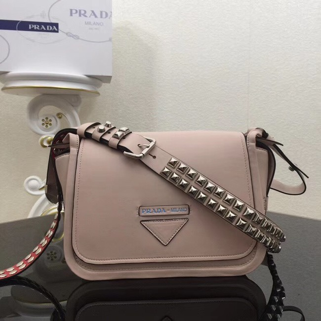 Prada Concept calf leather bag 1BD123 apricot