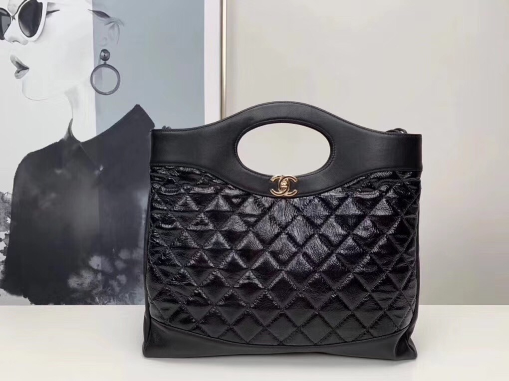 CHANEL 31 Large Shopping Bag A57978 black