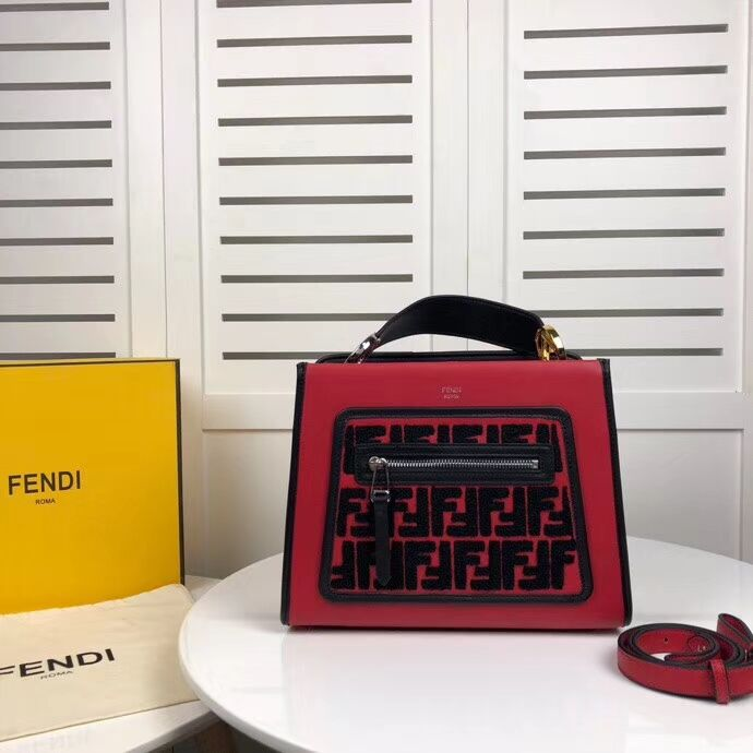 Fendi KAN I F leather bag 8DH844 red