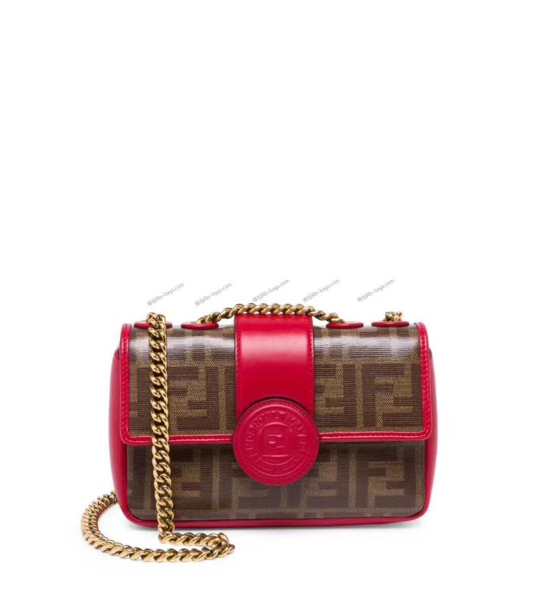 Fendi WALLET ON CHAIN 8HF836 RED