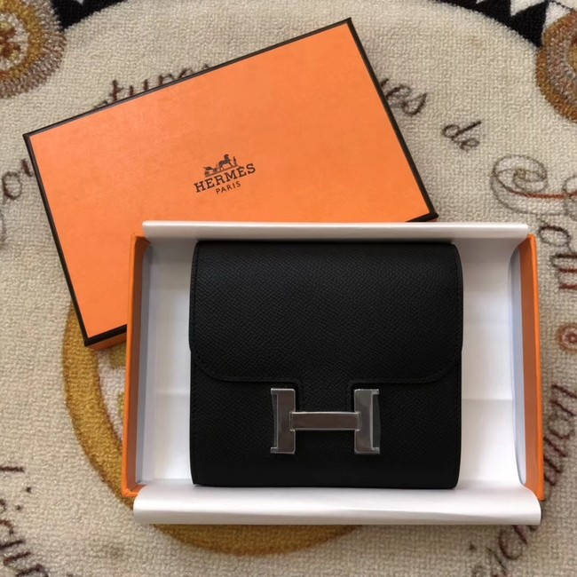 Hermes Constance Wallets espom leather H2297 black