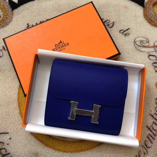 Hermes Constance Wallets espom leather H2297 blue
