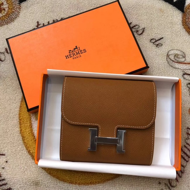 Hermes Constance Wallets espom leather H2297 brown