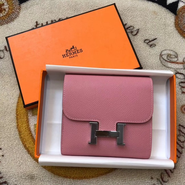 Hermes Constance Wallets espom leather H2297 pink