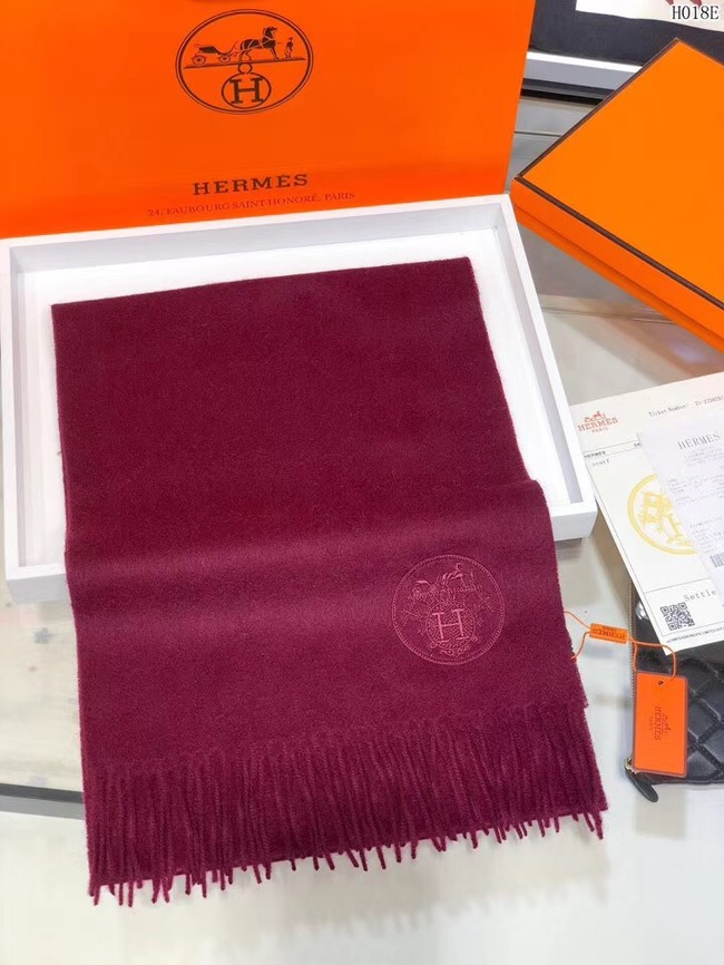 Hermes Cashmere scarf H2599 fuchsia