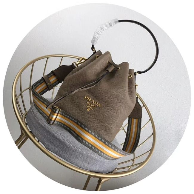 Prada Leather bucket bag 1BE018 Apricot