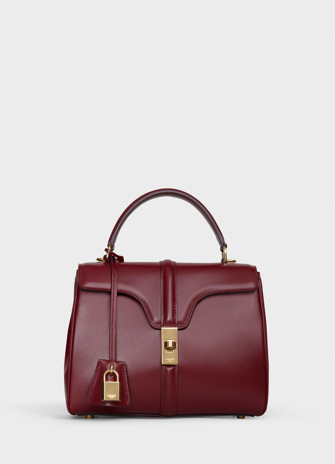 CELINE SMALL 16 BAG IN SATINATED CALFSKIN 188003 Burgundy
