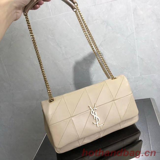 SAINT LAURENT Jamie leather quilted shoulder bag 515821 Cream