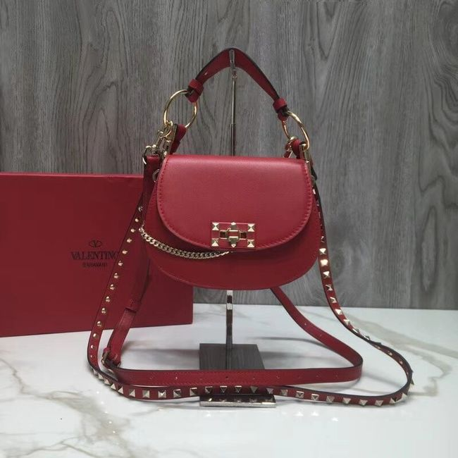 VALENTINO Candy quilted leather cross-body bag V3412 red