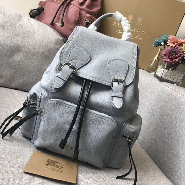 BURBERRY Leather backpack 48791 grey