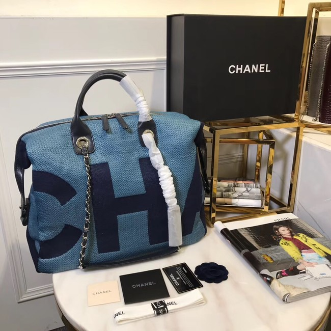 Chanel large shopping bag C3403 blue