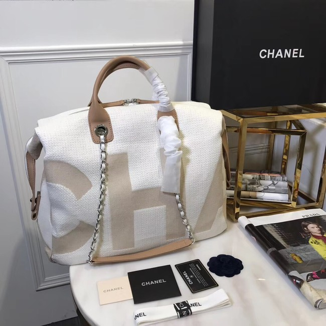Chanel large shopping bag C3403 cream