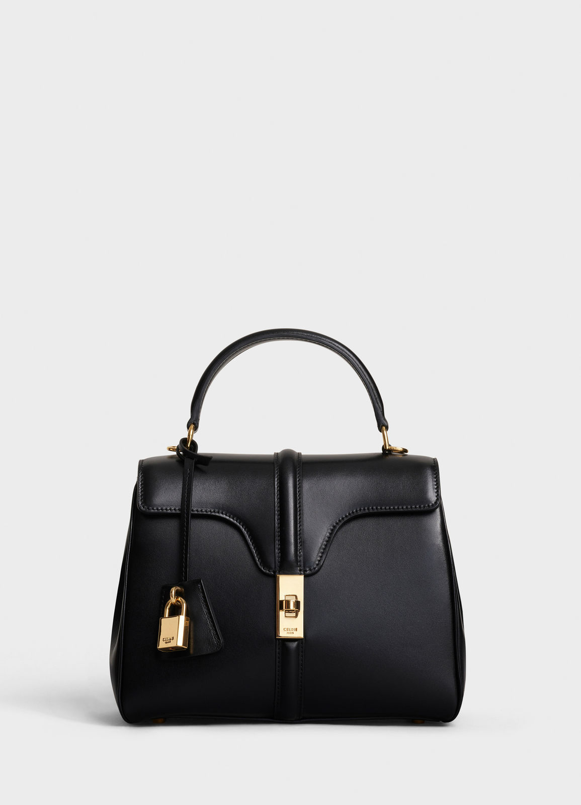 CELINE SMALL 16 BAG IN SATINATED CALFSKIN A188003 black