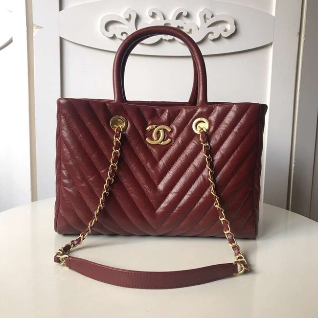 Chanel Original large shopping bag A57974 Burgundy