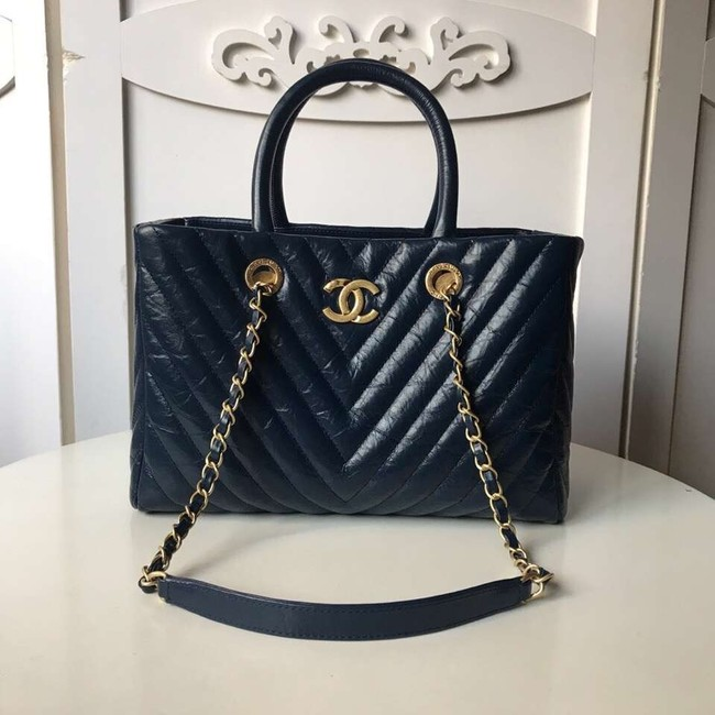 Chanel Original large shopping bag A57974 dark blue
