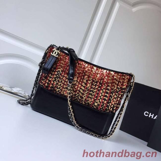 Chanel gabrielle hobo bag A93824 orange&black