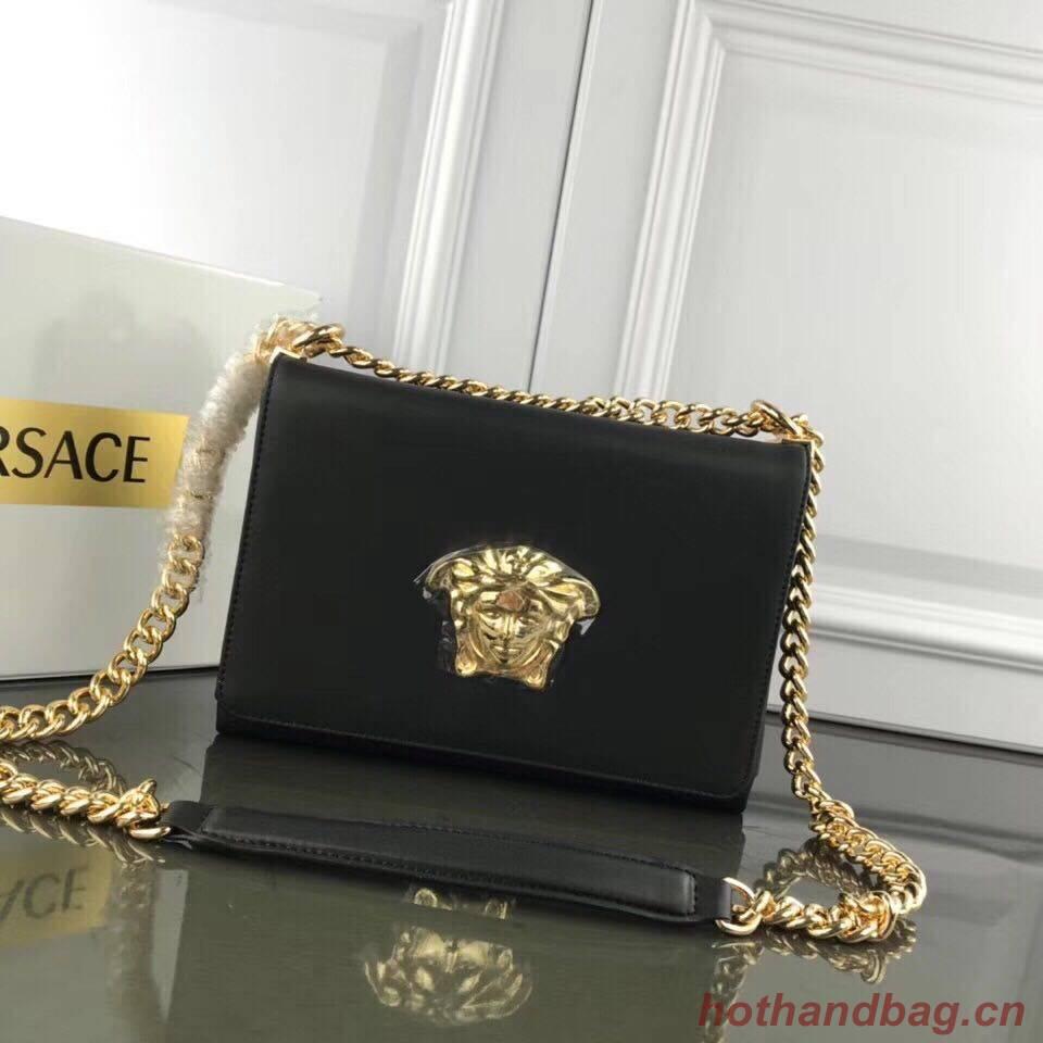 Versace Calfskin Leather Shoulder Bag VS170 Black