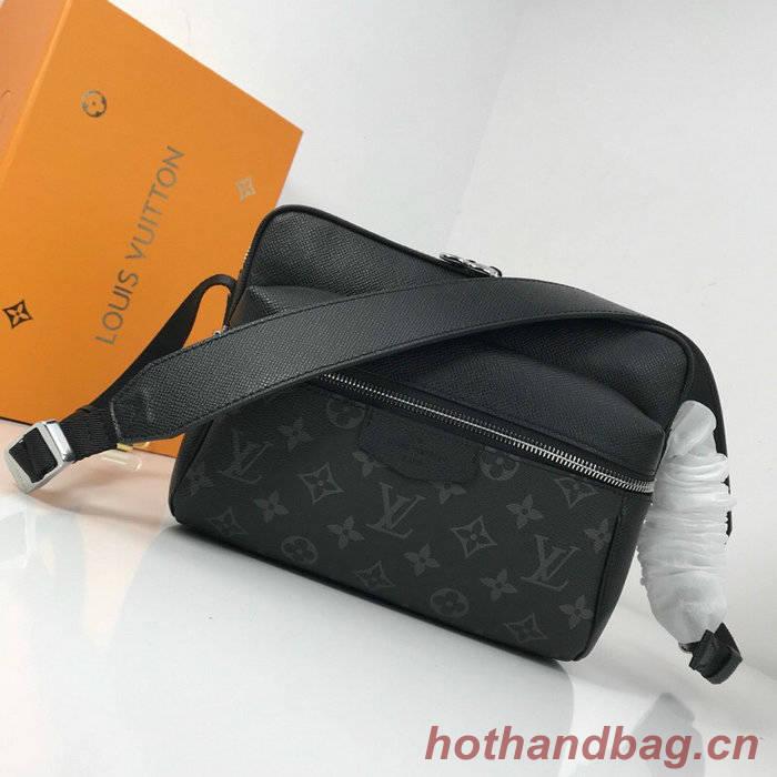 Louis Vuitton Monogram Canvas Messenger PM Black M43845