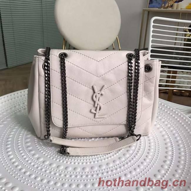 SAINT LAURENT leather shoulder bag Y554248 cream