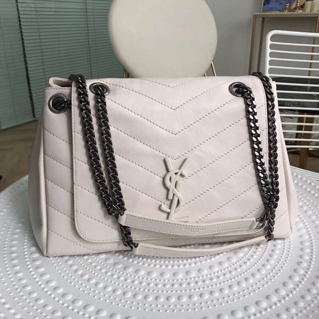 SAINT LAURENT leather shoulder bag Y554256 cream