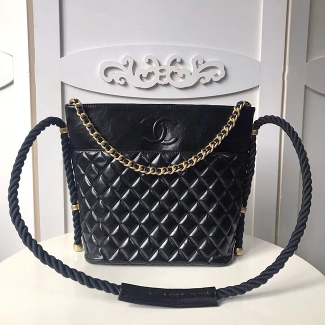 Chanel hobo handbag AS0076 black