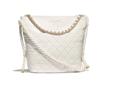 Chanel hobo handbag AS0076 white