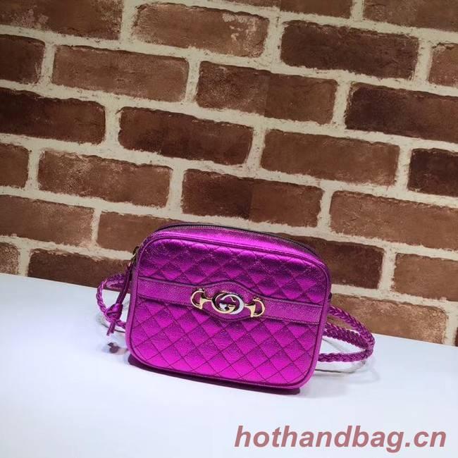 Gucci Mini laminated leather bag 534950 Fuchsia