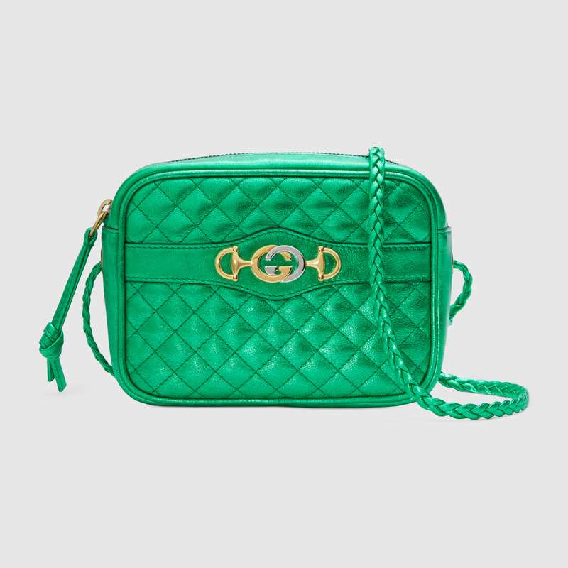 Gucci Mini laminated leather bag 534950 green