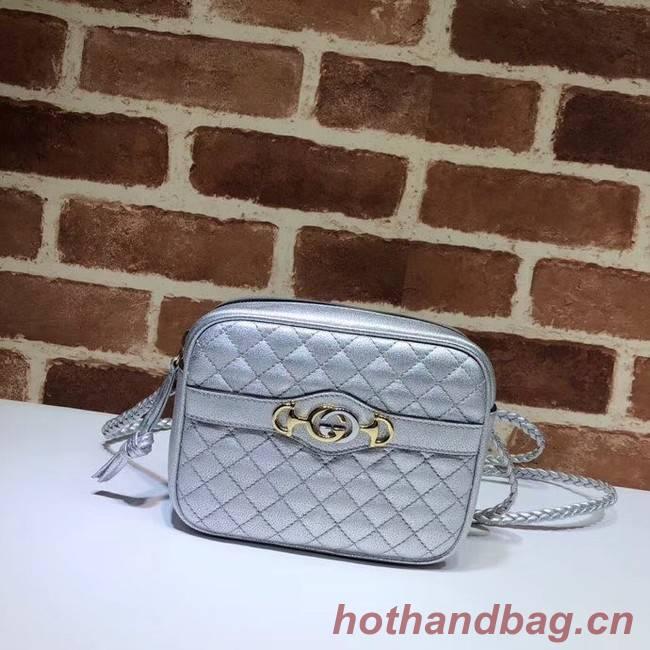 Gucci Mini laminated leather bag 534950 silver