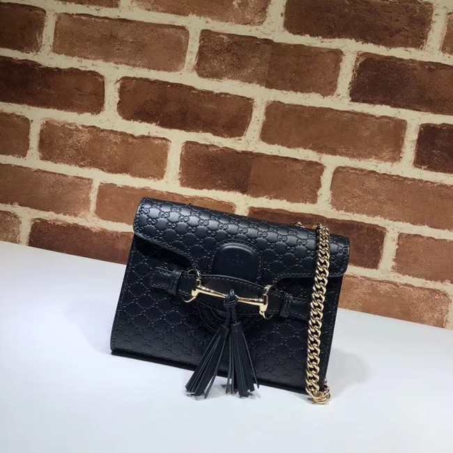 Gucci Mini leather bag 449636 black