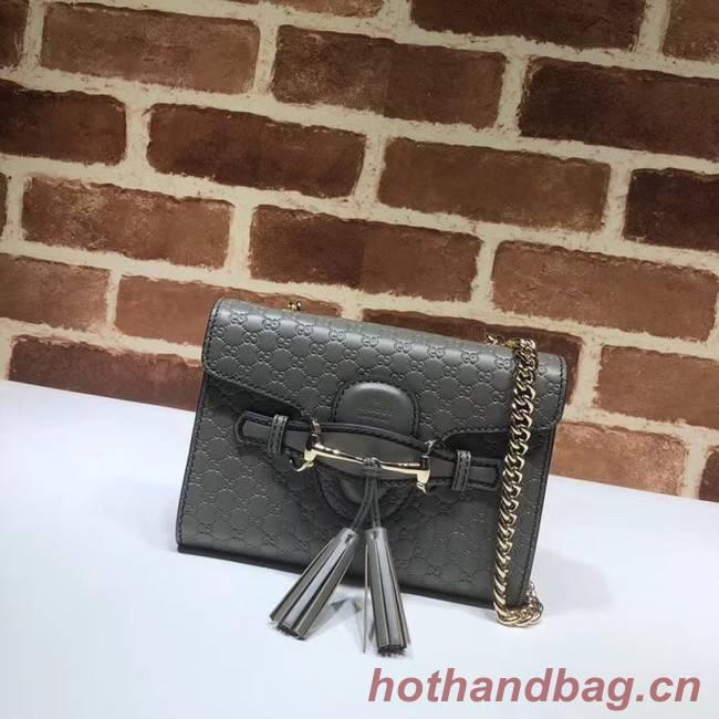 Gucci Mini leather bag 449636 grey