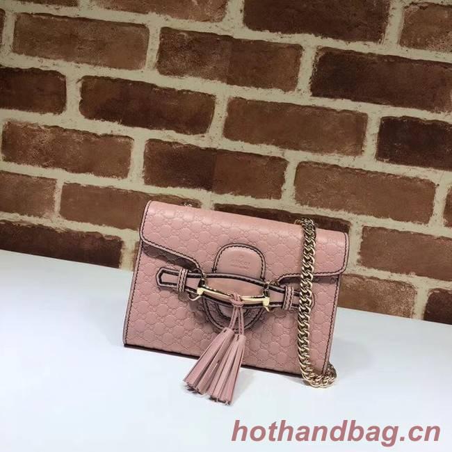 Gucci Mini leather bag 449636 pink