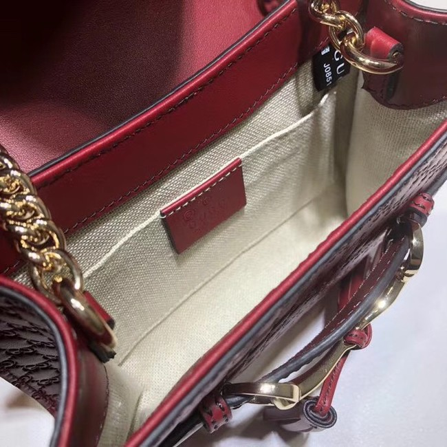 Gucci Mini leather bag 449636 red
