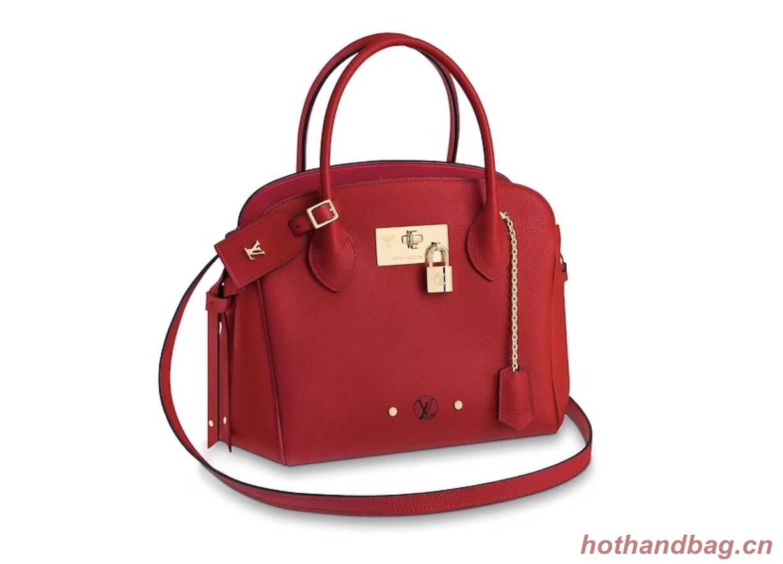 Louis Vuitton Veau Nuage Leather Milla MM M51685 red