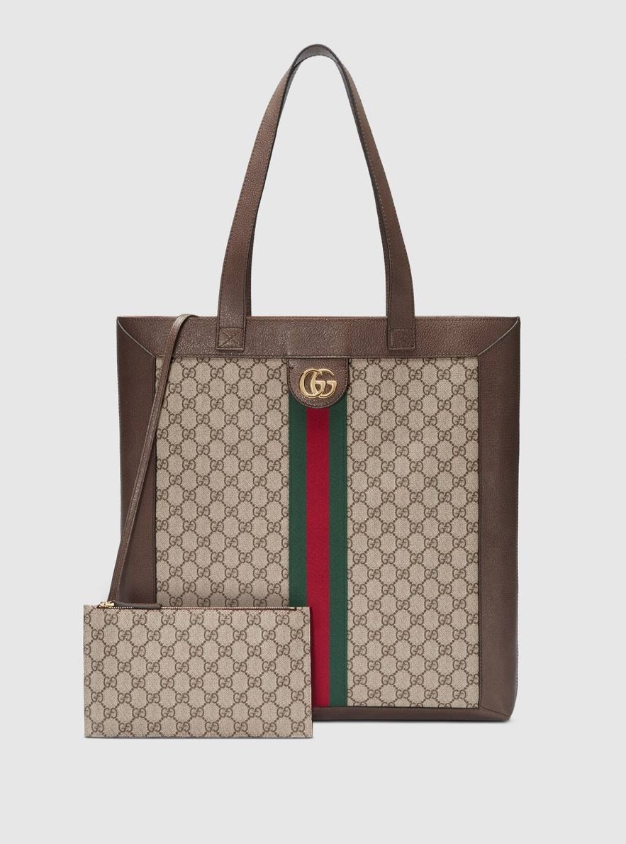 Gucci Ophidia Soft GG Supreme Large Tote Bag GG5689 Brown